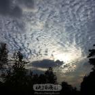 夕阳天空云