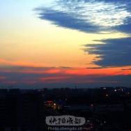 蓉城天空美如...