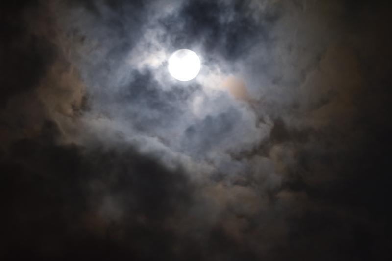 带月亮的背景图片